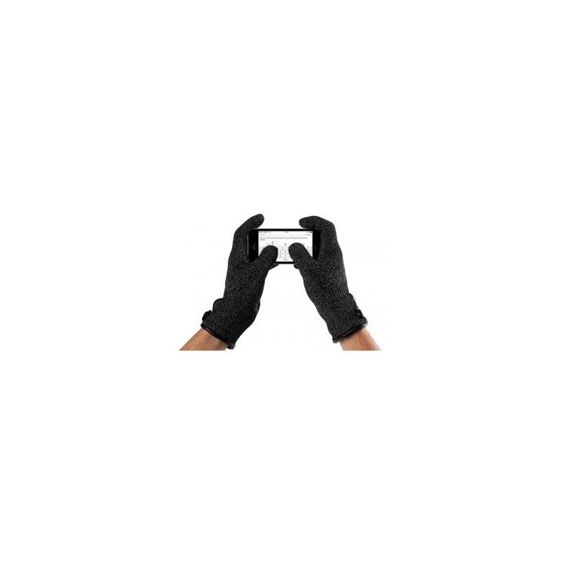 Mujjo Single-Layered Touchscreen gloves large zwart