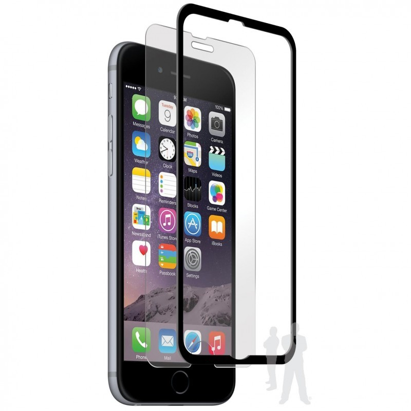 Pure Glass Crown iPhone 6 Plus / 6S Plus Screen Protector Black