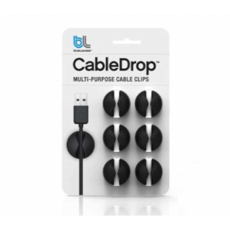 Bluelounge CableDrop 6-pack zwart