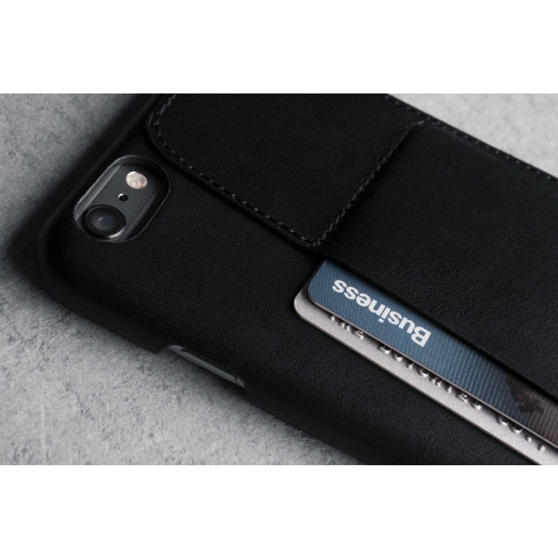 Mujjo Leather Wallet Case 80 iPhone 6(S) Plus zwart