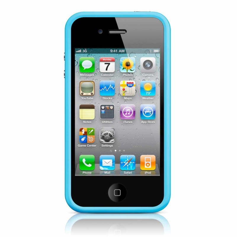 iPhone 4(S) Bumper blauw