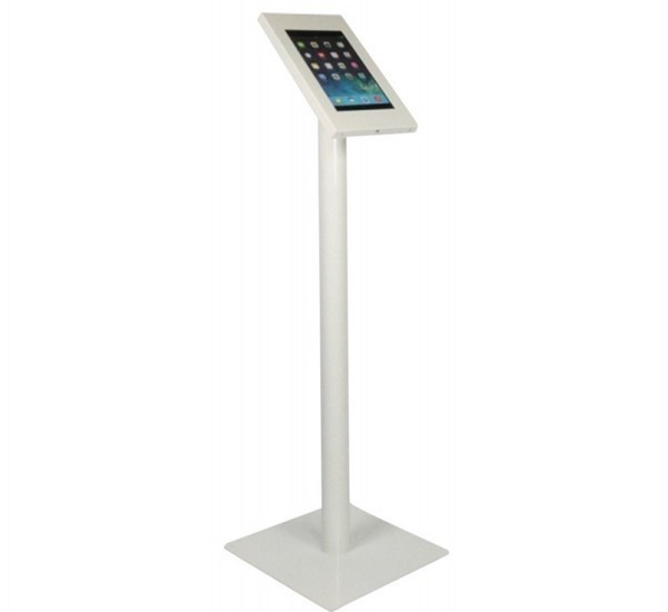 Tablet vloerstandaard Securo iPad Mini en Galaxy Tab 3 wit