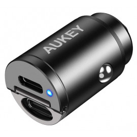 Aukey 2 Port PD USB-C Car Charger 30W