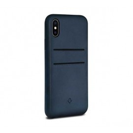 Twelve South Relaxed Leather pockets iPhone X / XS Indigo