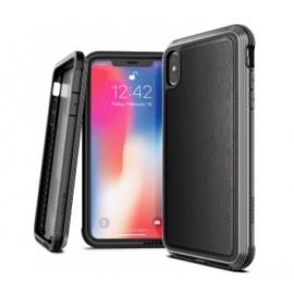 X-Doria Defense Lux Leather cover iPhone XS Max zwart