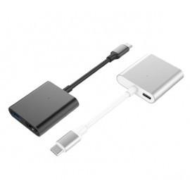 Hyper 3-in-1 USB-C hub 4K HDMI donkergrijs