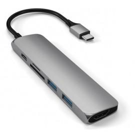 Satechi Type-C USB Passthrough HDMI Hub V2 grijs
