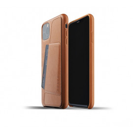 Mujjo Leather Wallet Case iPhone 11 Pro Max bruin