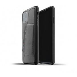 Mujjo Leather Wallet Case iPhone 11 Pro Max zwart