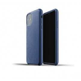 Mujjo Leather Case iPhone 11 blauw