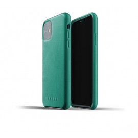 Mujjo Leather Case iPhone 11 groen