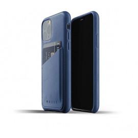 Mujjo Leather Wallet Case iPhone 11 Pro blauw