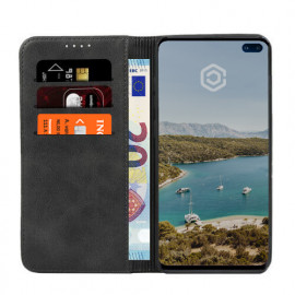 Casecentive Leren Wallet case Galaxy S10 Plus zwart
