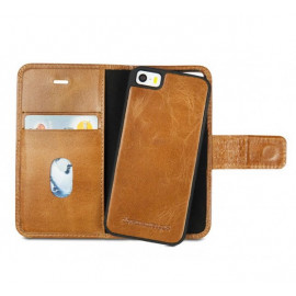 dbramante1928 leren wallet case iPhone 5(S) / SE tan