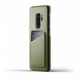 Mujjo Leather Wallet Case Galaxy S9 Plus groen