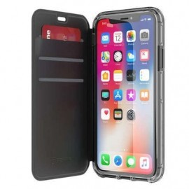 Griffin Survivor Clear Wallet iPhone X / XS zwart