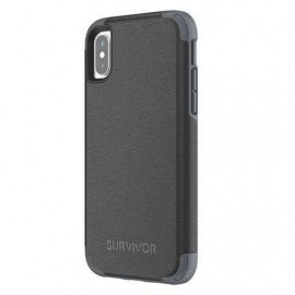 Griffin Survivor Prime Leather Case iPhone X / XS zwart