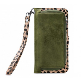 Mobilize 2in1 Gelly Wallet Zipper Case iPhone 11 Pro Max olijfgroen / leopard