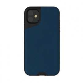 Mous Contour Leather iPhone 11 blauw