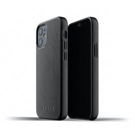Mujjo Leather Case iPhone 12 Mini zwart