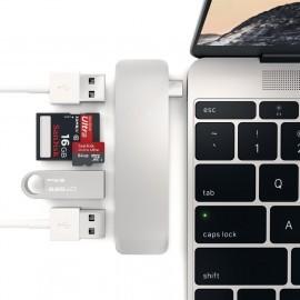 Satechi USB-C hub zilver