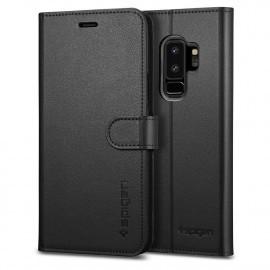 Spigen Galaxy S9 Plus Case Wallet S zwart