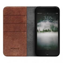 Nomad Leather Folio Case iPhone 7 / 8 / SE 2020 bruin