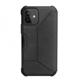 UAG Metropolis Leather Hard Case iPhone 12 / iPhone 12 Pro zwart