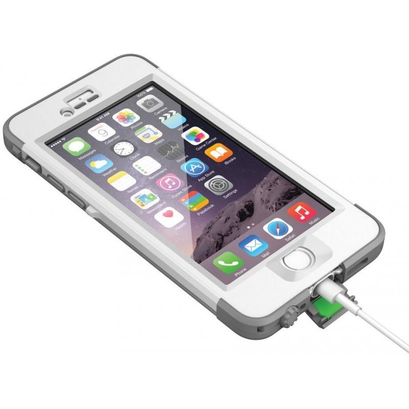 Lifeproof Nüüd Waterproof Case Avalanche iPhone 6 Plus wit/grijs