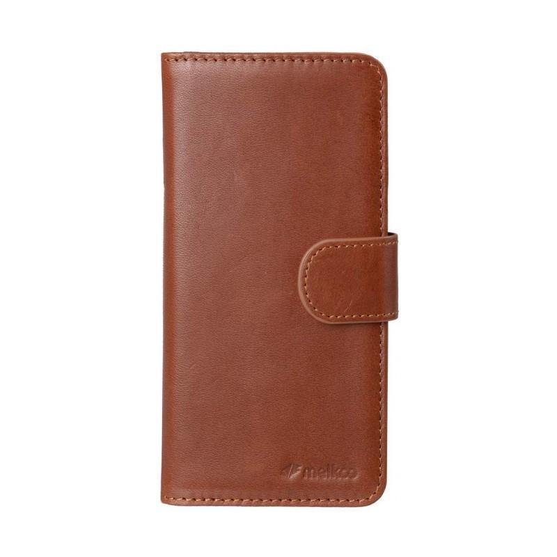 Melkco Alphard iPhone 6 Plus / 6S Plus Book Case Leather Orange Brown