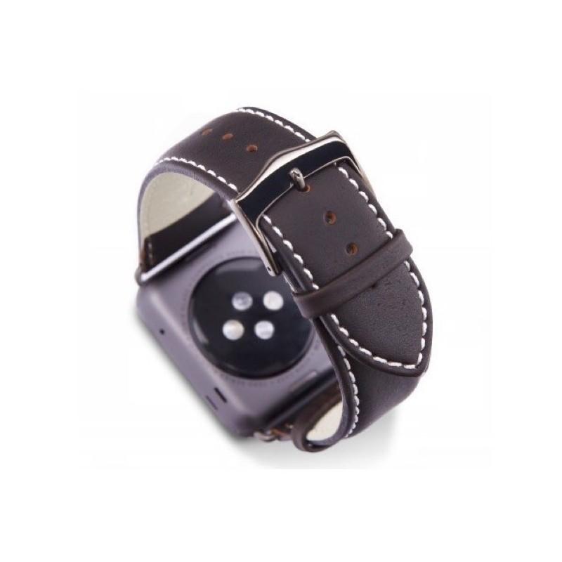 dbramante1928 Copenhagen Apple Watch bandje 38 / 40 mm grijs / donkerbruin