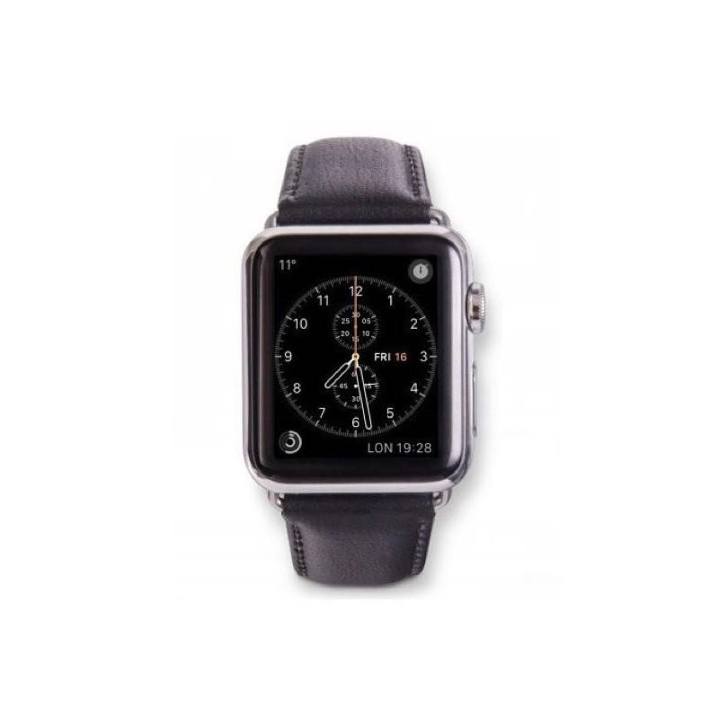 dbramante1928 Copenhagen Apple Watch bandje 42 / 44 mm zilver / zwart