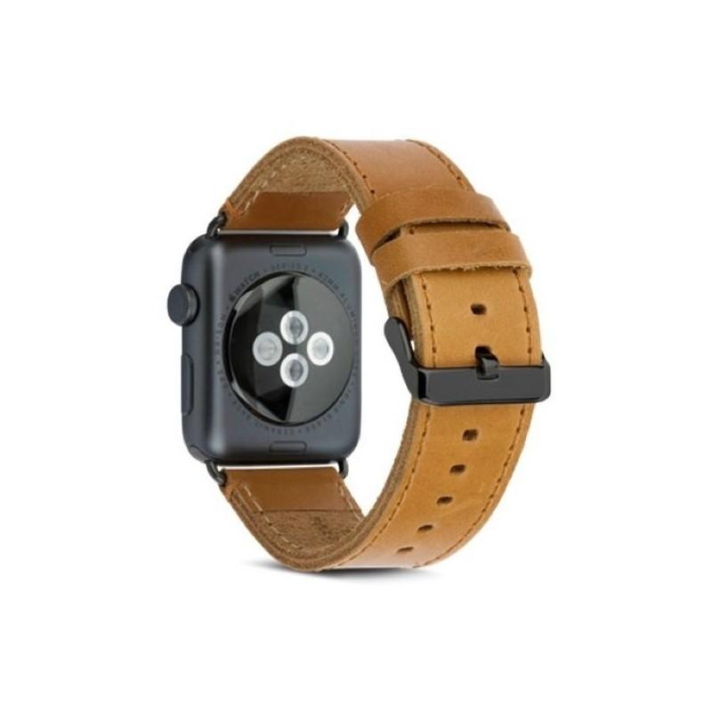 dbramante1928 Copenhagen Watch Strap 42 / 44 mm light dark brown / space gray