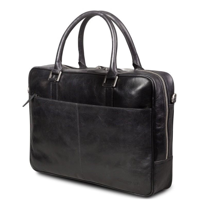 """dbramante1928 leren business bag 14"""" Rosenborg zwart"""