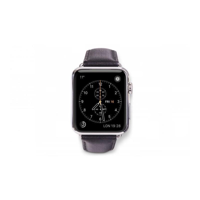 dbramante1928 Copenhagen Apple Watch bandje 42/44 mm grijs/zwart