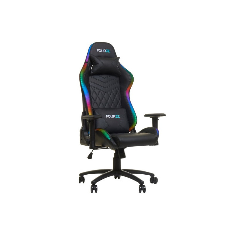 Fourze Lightning Gaming chair with RGB lighting Black