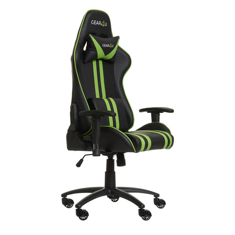 Gear4U Elite gaming chair groen / zwart