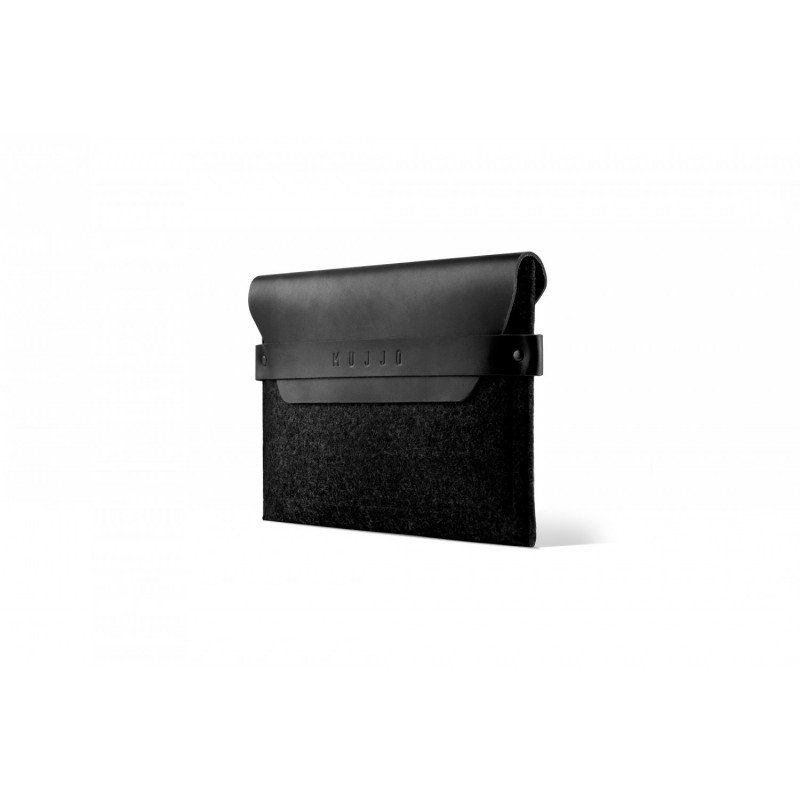 Mujjo Envelope iPad mini 1 / 2 / 3 / 4 / 5 Lederen Sleeve zwart