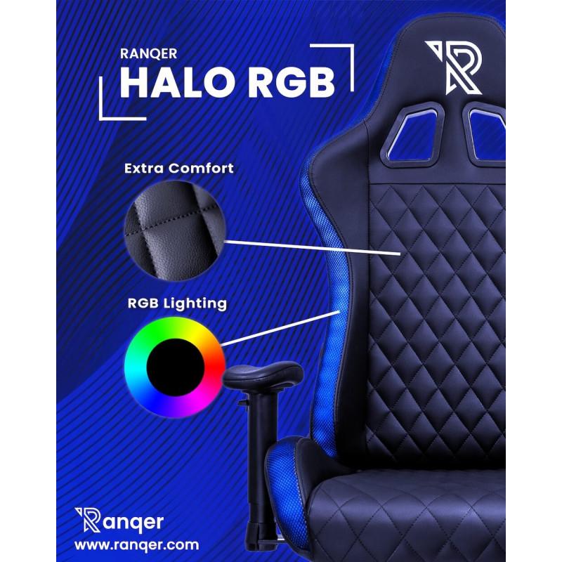 Ranqer Halo Gaming chair with RGB lighting Black