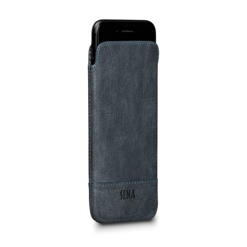 Sena UltraSlim Heritage denim iPhone 7 / 8 / SE 2020 blauw