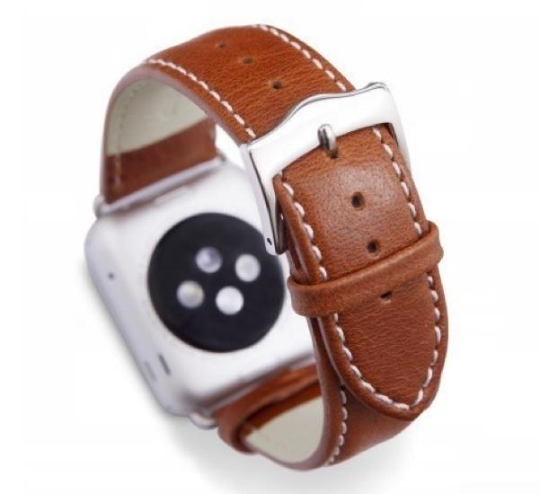 dbramante1928 Copenhagen Apple Watch bandje 42 / 44 mm zilver / bruin