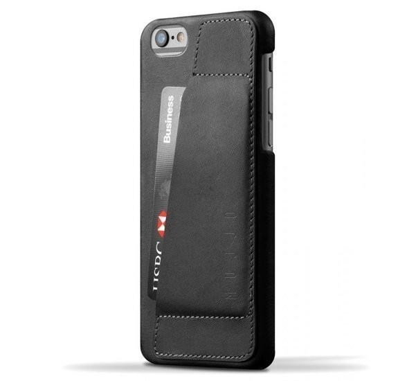 Mujjo Leather Wallet Case 80° iPhone 6(S) zwart