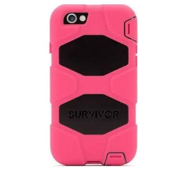 Griffin Survivor All-Terrain hardcase iPhone 6(S) Plus roze/zwart