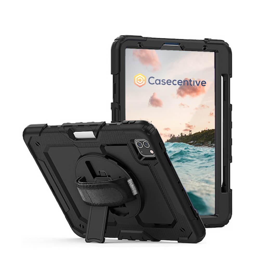 """Casecentive Handstrap Pro Hardcase with handstrap iPad Pro 11"""" 2021 / 2020 / 2018 black"""