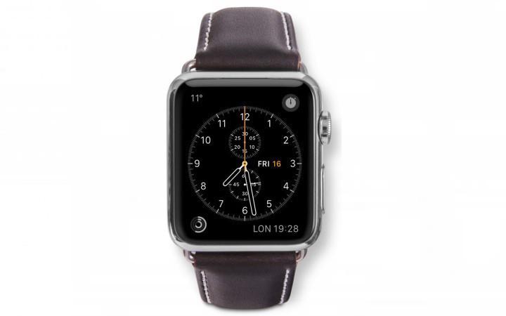 dbramante1928 Copenhagen Apple Watch bandje 38 / 40 mm zilver / donkerbruin