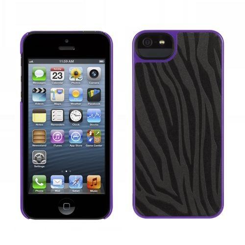 Griffin Moxy Form iPhone 5(S)/SE Zebra zwart/paars