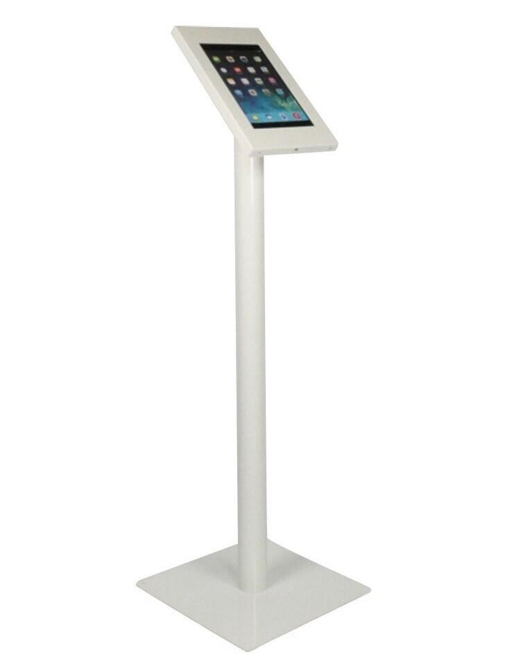 Tablet vloerstandaard Securo iPad en Galaxy Tab wit