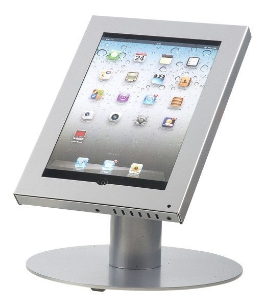 Tablet tafelstandaard Securo iPad en Galaxy Tab grijs