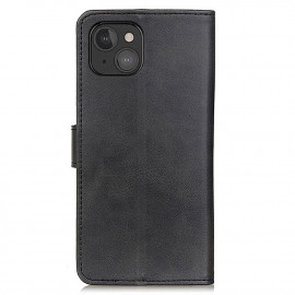 Casecentive Leather Wallet case with closure iPhone 13 Mini black