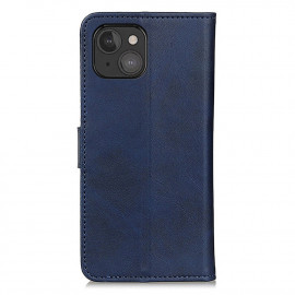 Casecentive Leather Wallet case with closure iPhone 13 Mini blue